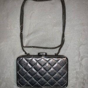 Michael Kors Small Silver Leather Crossbody